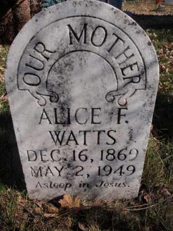 WATTS, ALICE F - Searcy County, Arkansas   ALICE F WATTS - Arkansas Gravestone Photos