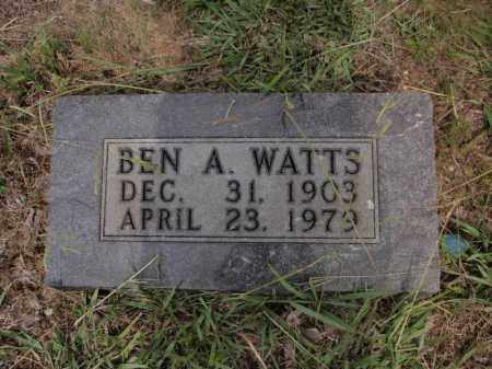 WATTS, BEN A - Searcy County, Arkansas   BEN A WATTS - Arkansas Gravestone Photos