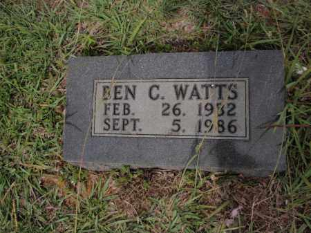 WATTS, BEN C - Searcy County, Arkansas | BEN C WATTS - Arkansas Gravestone Photos