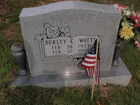 WATTS, BURLEY C - Searcy County, Arkansas   BURLEY C WATTS - Arkansas Gravestone Photos