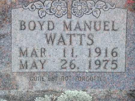 WATTS, BOYD MANUEL - Searcy County, Arkansas | BOYD MANUEL WATTS - Arkansas Gravestone Photos