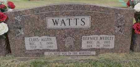 WATTS, CLOIS ALLEN - Searcy County, Arkansas | CLOIS ALLEN WATTS - Arkansas Gravestone Photos