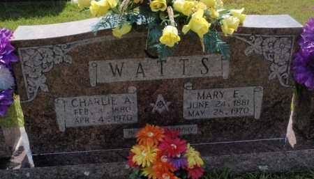 WATTS, CHARLIE A - Searcy County, Arkansas | CHARLIE A WATTS - Arkansas Gravestone Photos