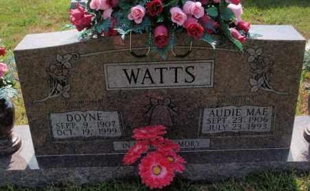WATTS, DOYNE - Searcy County, Arkansas | DOYNE WATTS - Arkansas Gravestone Photos