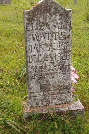 WATTS, ELIZA ANN - Searcy County, Arkansas | ELIZA ANN WATTS - Arkansas Gravestone Photos