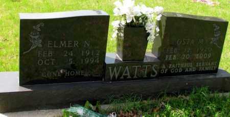 WATTS, ELMER N - Searcy County, Arkansas | ELMER N WATTS - Arkansas Gravestone Photos