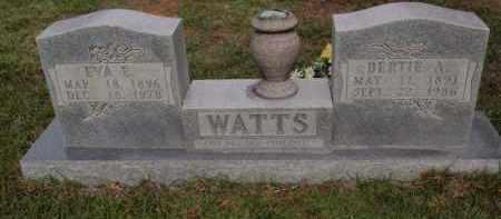 WATTS, BERTIE A - Searcy County, Arkansas | BERTIE A WATTS - Arkansas Gravestone Photos