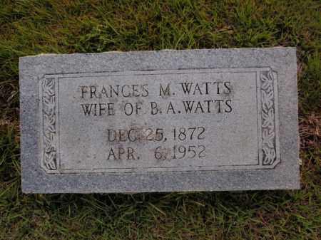 WATTS, FRANCES M - Searcy County, Arkansas | FRANCES M WATTS - Arkansas Gravestone Photos