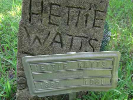 WATTS, HETTIE - Searcy County, Arkansas | HETTIE WATTS - Arkansas Gravestone Photos