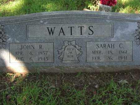 WATTS, SARAH C. - Searcy County, Arkansas   SARAH C. WATTS - Arkansas Gravestone Photos