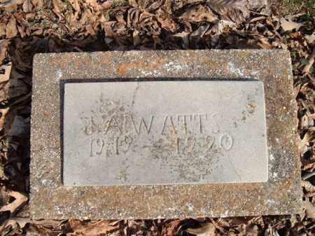 WATTS, J.A. - Searcy County, Arkansas | J.A. WATTS - Arkansas Gravestone Photos