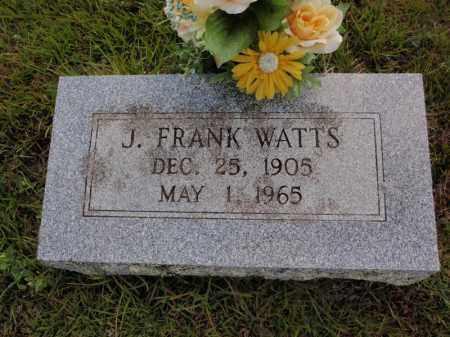 WATTS, J FRANK - Searcy County, Arkansas | J FRANK WATTS - Arkansas Gravestone Photos