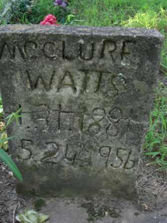 WATTS, MCCLURE - Searcy County, Arkansas | MCCLURE WATTS - Arkansas Gravestone Photos