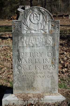 WATTS, PERRY D. - Searcy County, Arkansas | PERRY D. WATTS - Arkansas Gravestone Photos