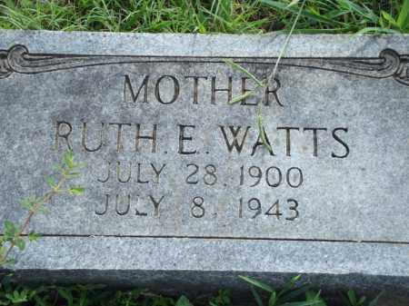 WATTS, RUTH E - Searcy County, Arkansas | RUTH E WATTS - Arkansas Gravestone Photos