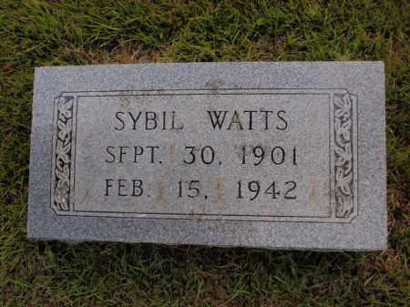 WATTS, SYBIL - Searcy County, Arkansas   SYBIL WATTS - Arkansas Gravestone Photos
