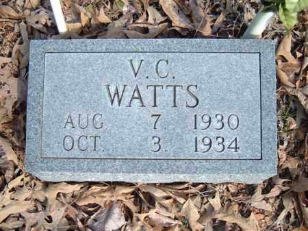 WATTS, V.C. - Searcy County, Arkansas | V.C. WATTS - Arkansas Gravestone Photos