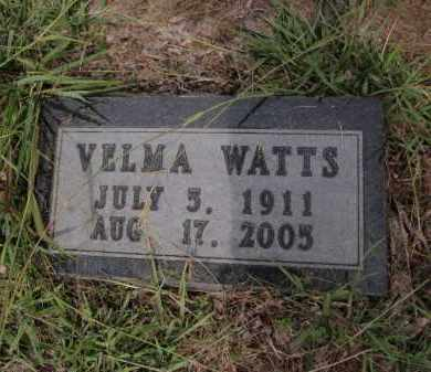 WATTS, VELMA - Searcy County, Arkansas | VELMA WATTS - Arkansas Gravestone Photos
