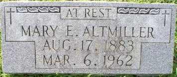 ALTMILLER, MARY E - Sebastian County, Arkansas   MARY E ALTMILLER - Arkansas Gravestone Photos