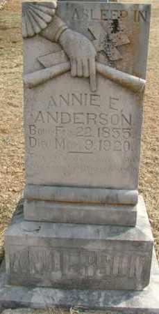 ANDERSON, ANNIE E. - Sebastian County, Arkansas | ANNIE E. ANDERSON - Arkansas Gravestone Photos