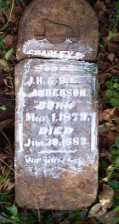 ANDERSON, CHARLEY - Sebastian County, Arkansas   CHARLEY ANDERSON - Arkansas Gravestone Photos