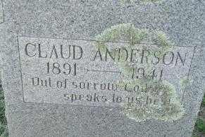 ANDERSON, CLAUD - Sebastian County, Arkansas   CLAUD ANDERSON - Arkansas Gravestone Photos