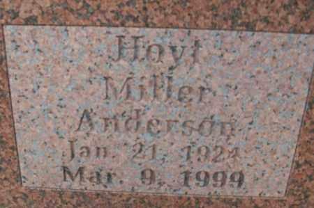 ANDERSON, HOYT MILLER - Sebastian County, Arkansas | HOYT MILLER ANDERSON - Arkansas Gravestone Photos