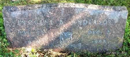ANDERSON, IMOGENE B - Sebastian County, Arkansas   IMOGENE B ANDERSON - Arkansas Gravestone Photos