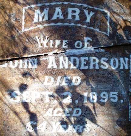 ANDERSON, MARY ANN - Sebastian County, Arkansas | MARY ANN ANDERSON - Arkansas Gravestone Photos