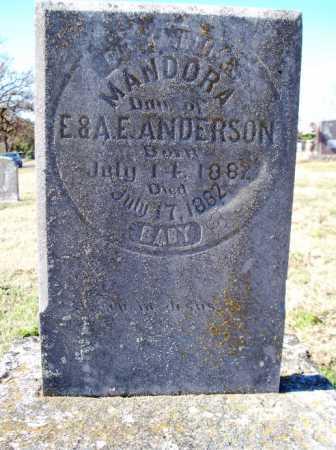 ANDERSON, MANDORA - Sebastian County, Arkansas | MANDORA ANDERSON - Arkansas Gravestone Photos