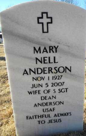 ANDERSON, MARY NELL - Sebastian County, Arkansas | MARY NELL ANDERSON - Arkansas Gravestone Photos