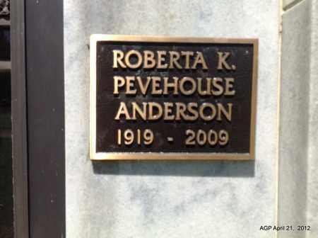 ANDERSON, ROBERTA K - Sebastian County, Arkansas | ROBERTA K ANDERSON - Arkansas Gravestone Photos