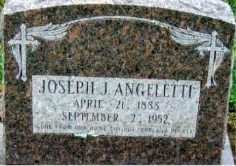 ANGELETTI, JOSEPH J - Sebastian County, Arkansas | JOSEPH J ANGELETTI - Arkansas Gravestone Photos