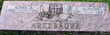 ARKEBAUER, U BLANCHE - Sebastian County, Arkansas   U BLANCHE ARKEBAUER - Arkansas Gravestone Photos
