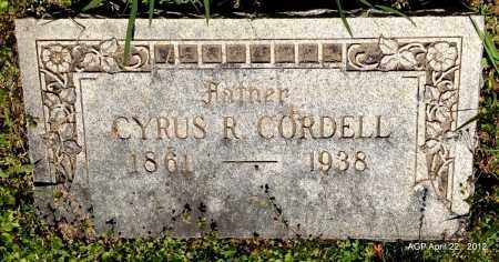 CORDELL, CYRUS R - Sebastian County, Arkansas   CYRUS R CORDELL - Arkansas Gravestone Photos