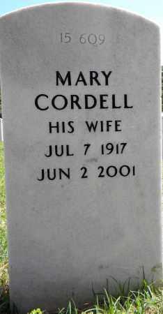 CORDELL, MARY - Sebastian County, Arkansas   MARY CORDELL - Arkansas Gravestone Photos