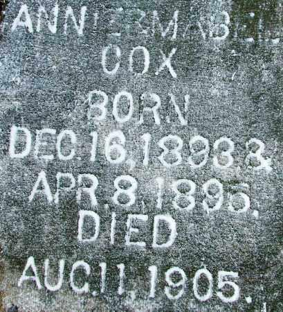 COX, ANNIE - Sebastian County, Arkansas | ANNIE COX - Arkansas Gravestone Photos