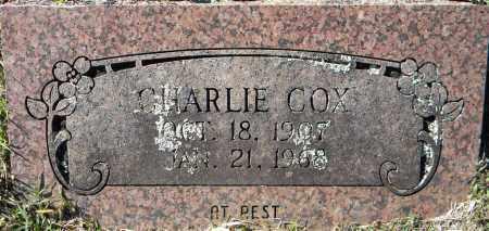 COX, CHARLIE - Sebastian County, Arkansas | CHARLIE COX - Arkansas Gravestone Photos