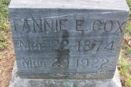 COX, FANNIE E - Sebastian County, Arkansas   FANNIE E COX - Arkansas Gravestone Photos