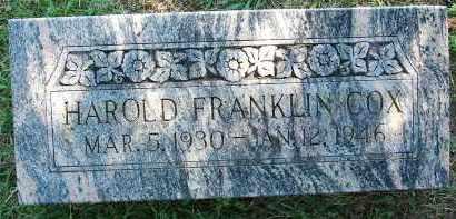 COX, HAROLD FRANKLIN - Sebastian County, Arkansas | HAROLD FRANKLIN COX - Arkansas Gravestone Photos