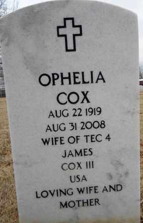COX, OPHELIA - Sebastian County, Arkansas   OPHELIA COX - Arkansas Gravestone Photos