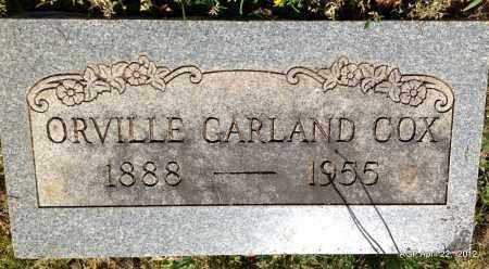COX, ORVILLE GARLAND - Sebastian County, Arkansas | ORVILLE GARLAND COX - Arkansas Gravestone Photos