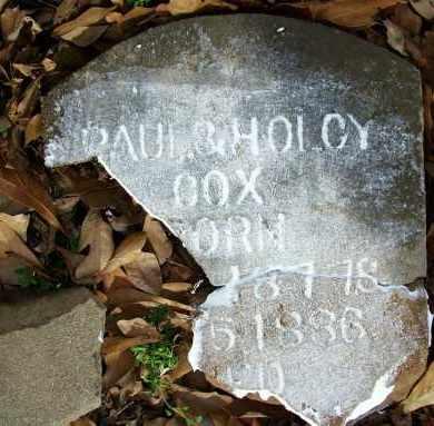 COX, HOLCY - Sebastian County, Arkansas | HOLCY COX - Arkansas Gravestone Photos