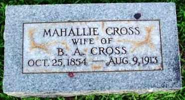 CROSS, MAHALLIE ALMA - Sebastian County, Arkansas | MAHALLIE ALMA CROSS - Arkansas Gravestone Photos