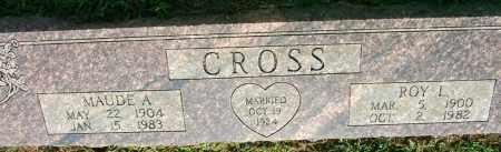 CROSS, MAUDE A. - Sebastian County, Arkansas | MAUDE A. CROSS - Arkansas Gravestone Photos