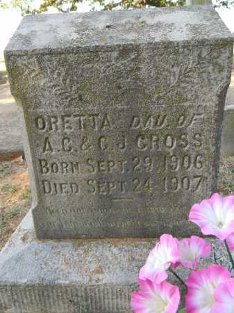 CROSS, ORETTA - Sebastian County, Arkansas   ORETTA CROSS - Arkansas Gravestone Photos