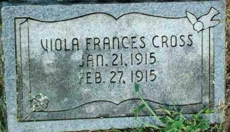CROSS, VIOLA FRANCES - Sebastian County, Arkansas | VIOLA FRANCES CROSS - Arkansas Gravestone Photos