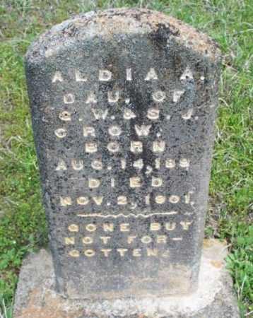CROW, ALDIA ADELINE - Sebastian County, Arkansas | ALDIA ADELINE CROW - Arkansas Gravestone Photos