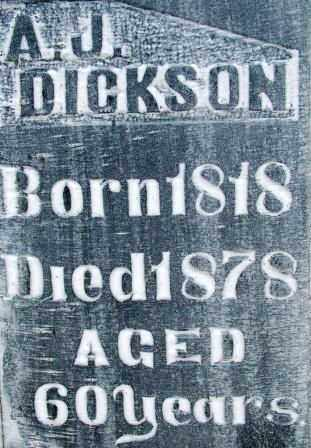 DICKSON, A. J. - Sebastian County, Arkansas   A. J. DICKSON - Arkansas Gravestone Photos