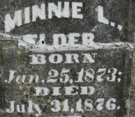 ELDER, MINNIE L - Sebastian County, Arkansas | MINNIE L ELDER - Arkansas Gravestone Photos